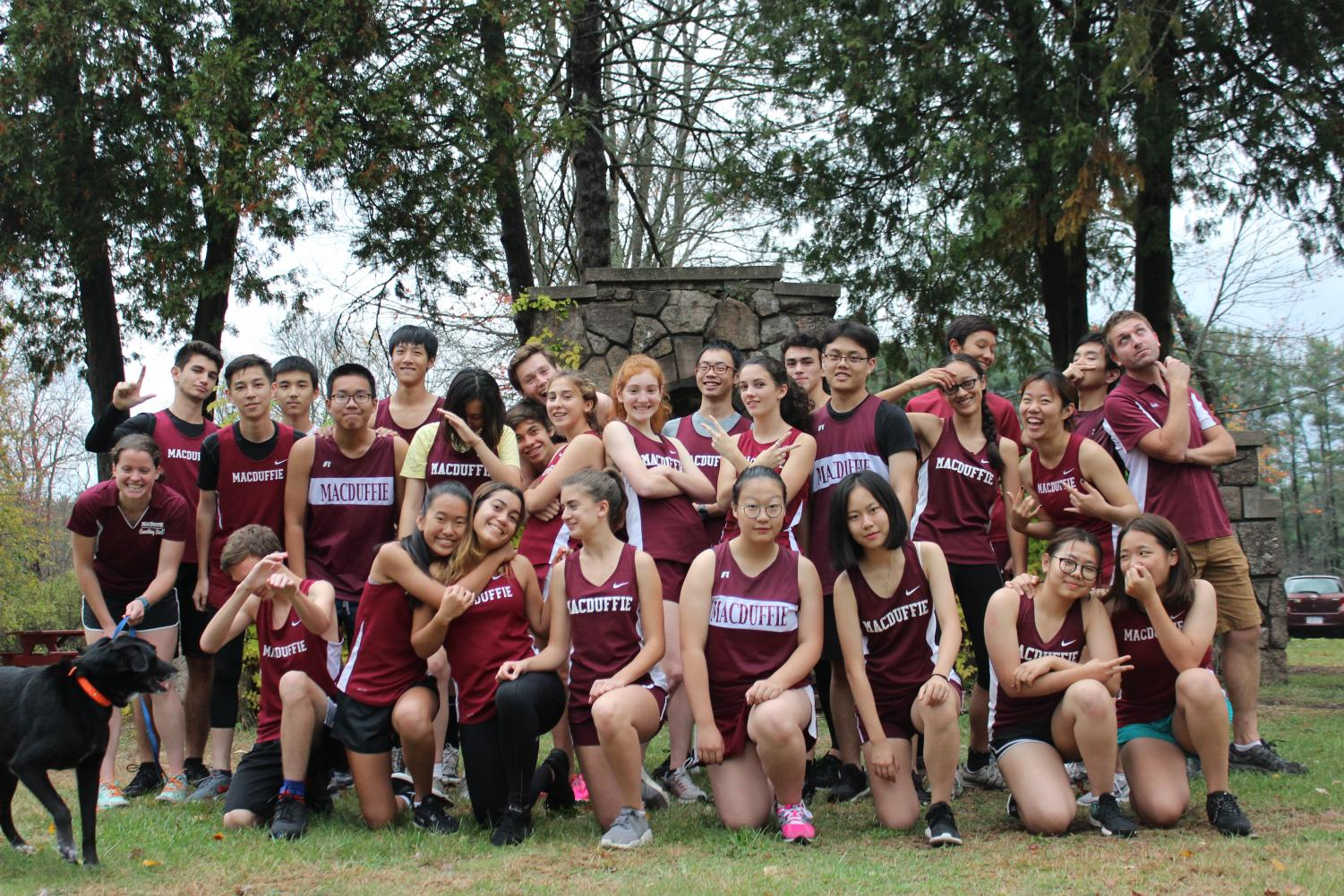 The Cross Country Team feeling goofy before a home meet.