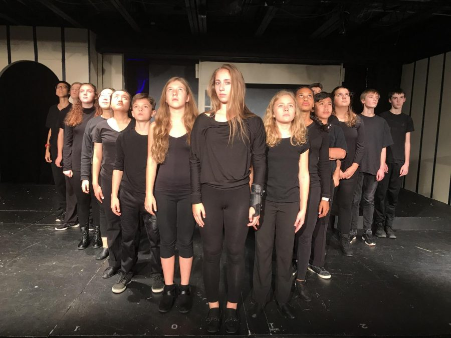 The Eighth Graders tackled discrimination in their original play, Who We Truly Are.