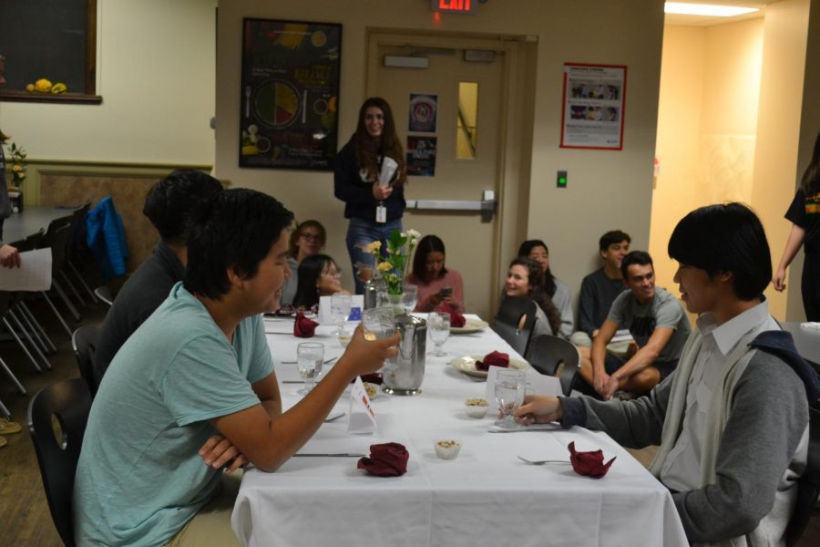 Senior+Tenzin+Yontin+and+Nam+Vo+enjoying+their+%22first+world%22+meal.+Picture+by+Rose+Nguyen+%2720.