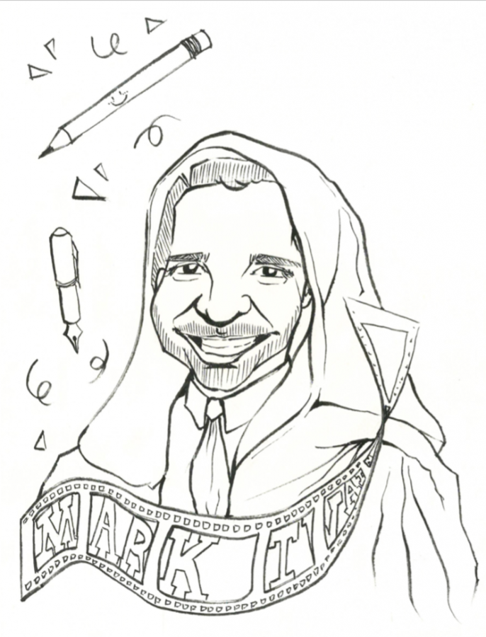 A portrait of Former Dean of Students Alun Polga as a Jedi master. Art by Celine Wang