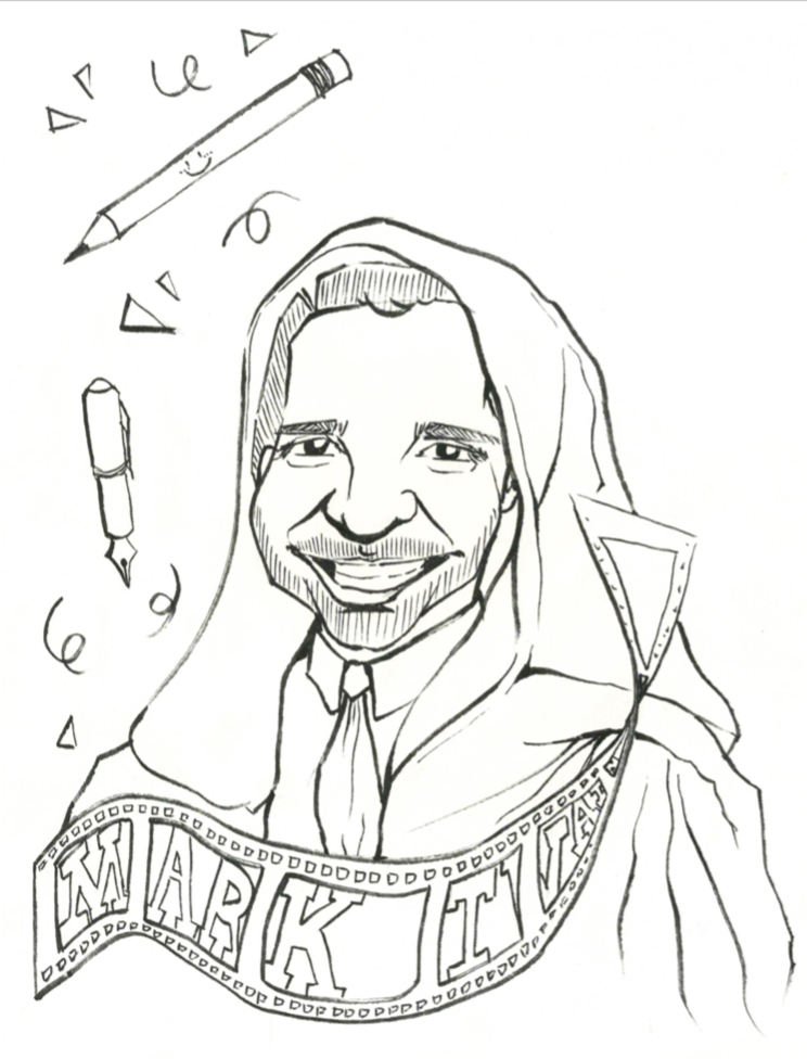 A portrait of Former Dean of Students Alun Polga as a Jedi master. Art by Celine Wang '18.
