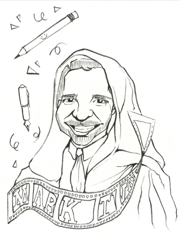 A portrait of Former Dean of Students Alun Polga as a Jedi master. Art by Celine Wang '18.