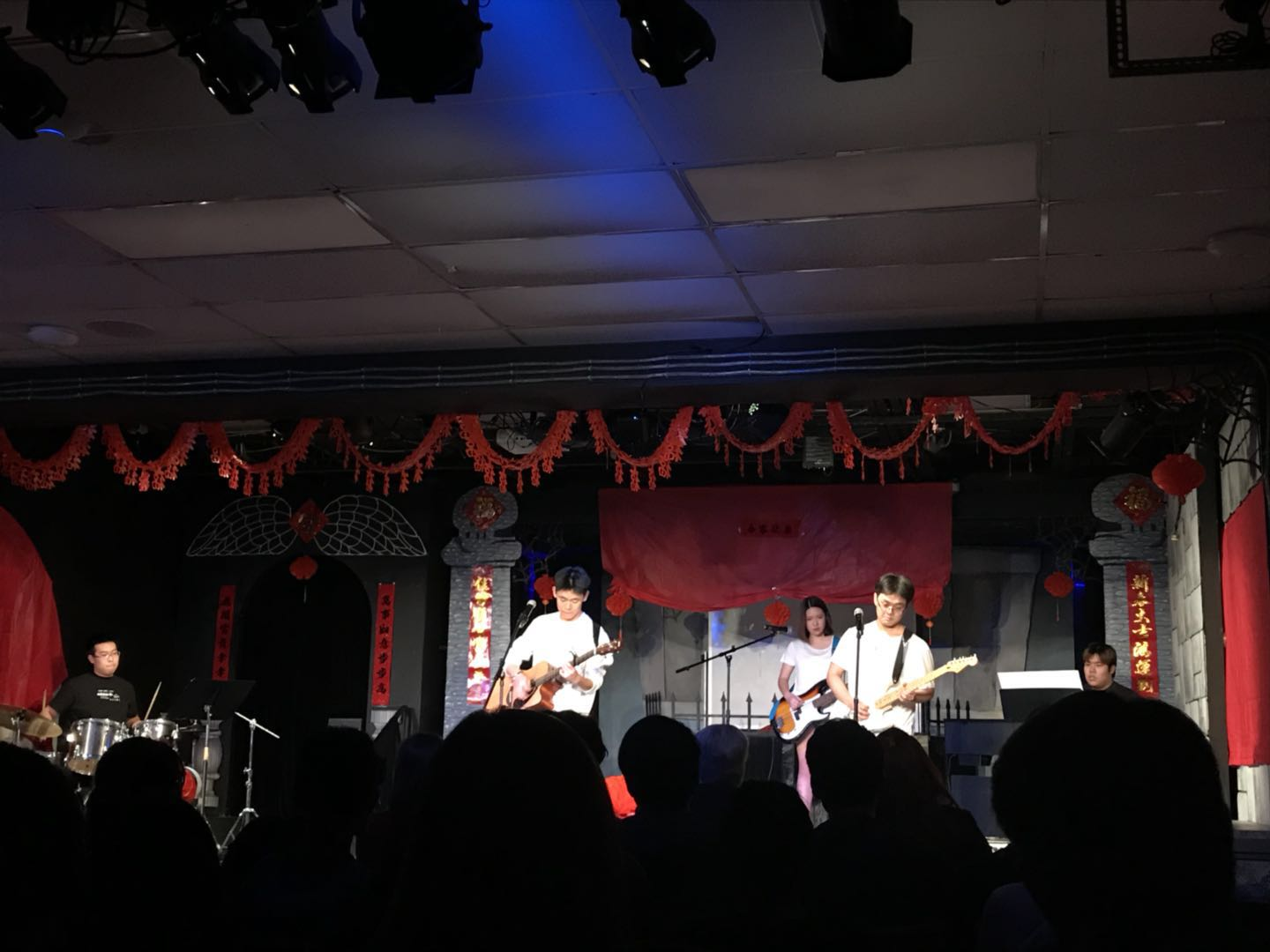 The FTD band performing at the Chinese Spring Gala last Friday. Photo by Marvin Duan '19.