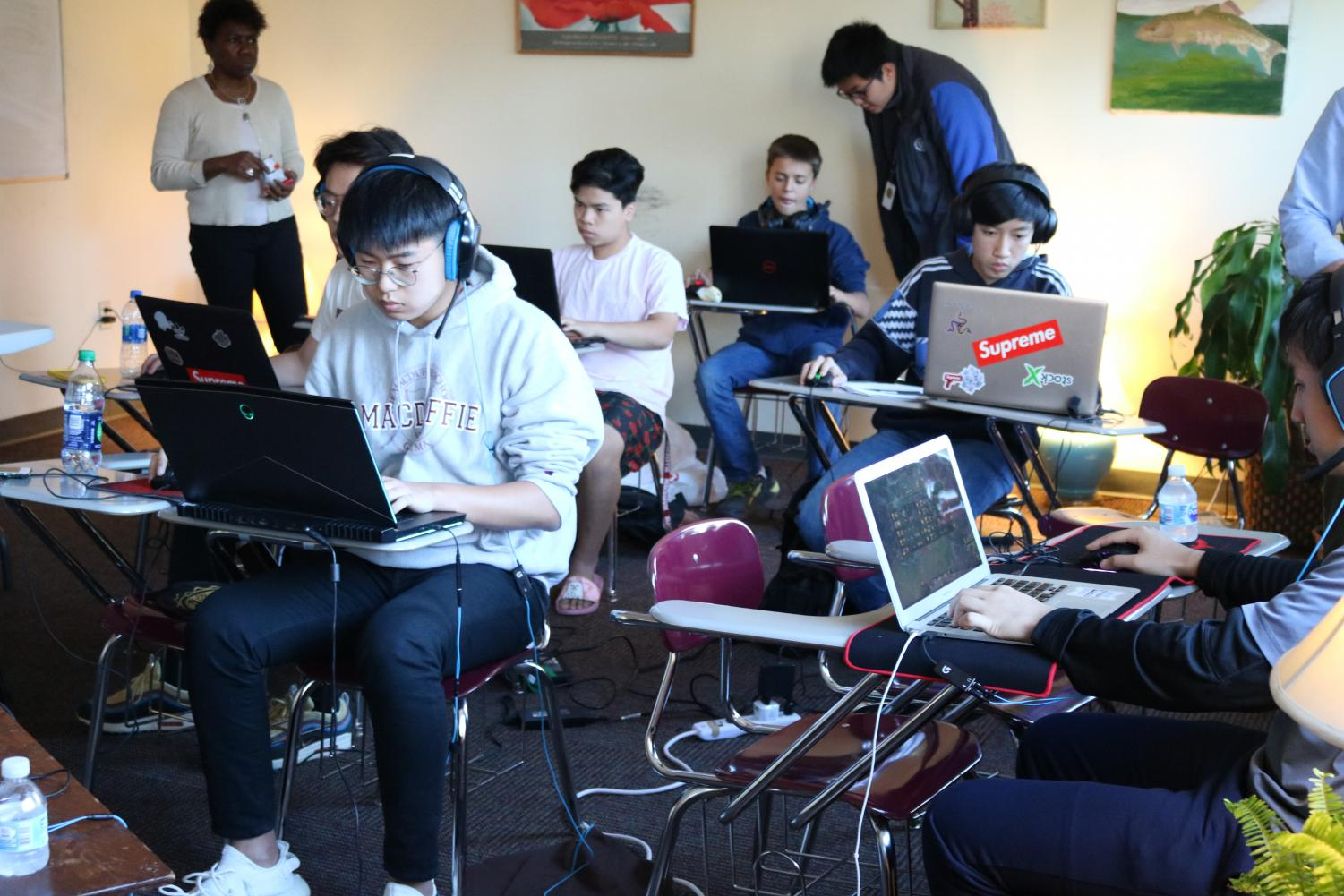 One of the first Esports Delta games. Photoprovided by Allyson Morin