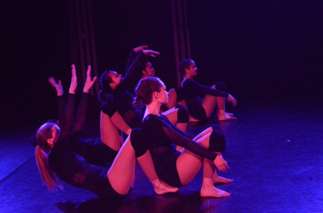 %3Cb%3E%E2%80%9C5%2C+6%2C+7%2C+8%21%E2%80%9D%3C%2Fb%3E+Rehearsal+for+the+dance+Particles%3B+Seniors+Julia+Cloutier+and+Yunxia+Hallowell+team+up+to+execute+one+of+the+moves.+The+students+in+the+class+developed+and+practiced+the+choreography+with+help+from+Dance+Teacher+Angie+Muzzy.++%3Ci%3EPhoto+by+Savannah+Richard%3C%2Fi%3E