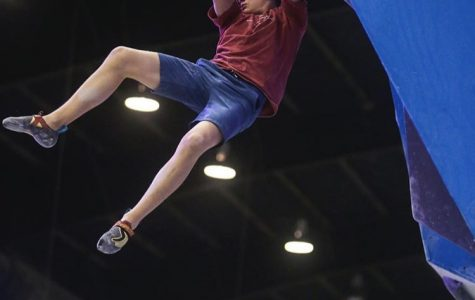 Squire Places First in Bouldering National Championships