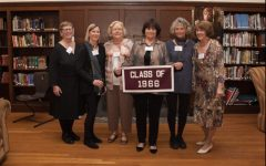 Members of the MacDuffie Class of 1966, including Dean of Boarding Dina Lyman, at a reunion in 2016.  Photo provided by The MacDuffie School.