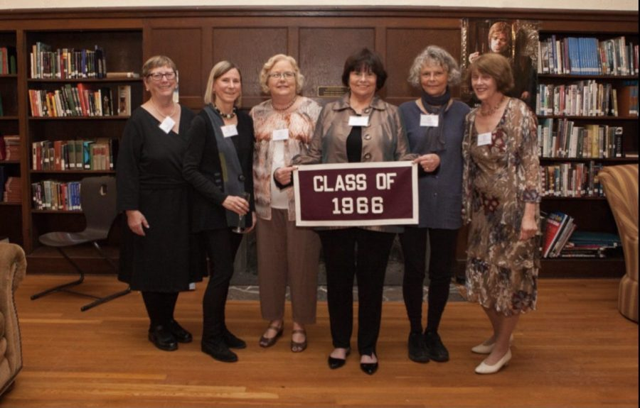 Members+of+the+MacDuffie+Class+of+1966%2C+including+Dean+of+Boarding+Dina+Lyman%2C+at+a+reunion+in+2016.++Photo+provided+by+The+MacDuffie+School.