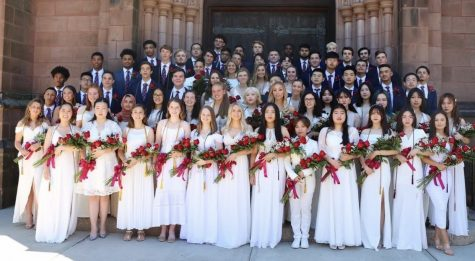 The MacDuffie class of 2019 at graduation at Mount Holyoke College. Photo provided by MacDuffie Admissions.